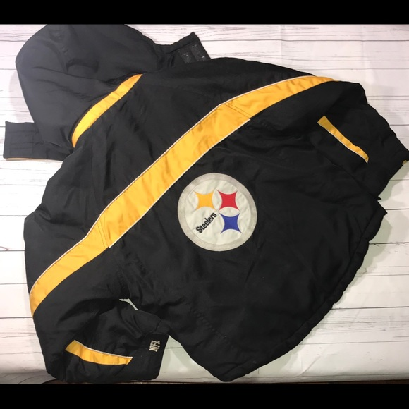 best loved 07c8a 7bb30 Pittsburgh Steelers Coat Youth Large black yellow